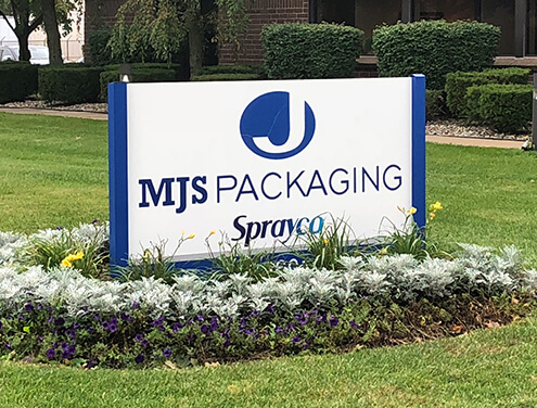 MJS Packaging Office Sign