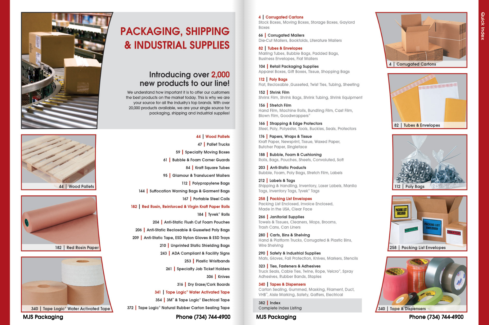 mjs packaging product catalog front cover