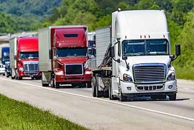 Trucks on Road during Industry Updates