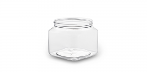 This jar is the perfect storage option for personal needs, such as candies and cotton balls.