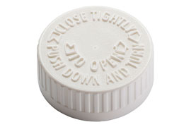 Child-Resistant Cap for Cannabis Packaging