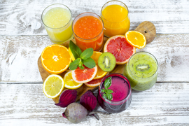 Fruits and Cold Press Juice