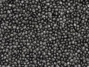 Black resin plastic pellets