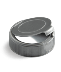 Gray flip top closure for nutraceuticals