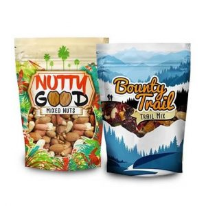 Two food pouches with nuts | Types of Flexible Packaging
